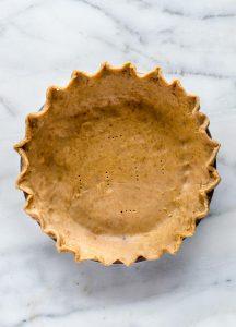 3 Ingredient Gluten Free Pie Crust