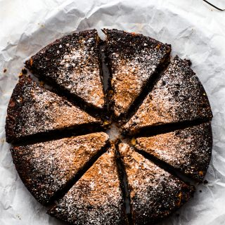 Dark Chocolate Christmas Cake {Panaforte}