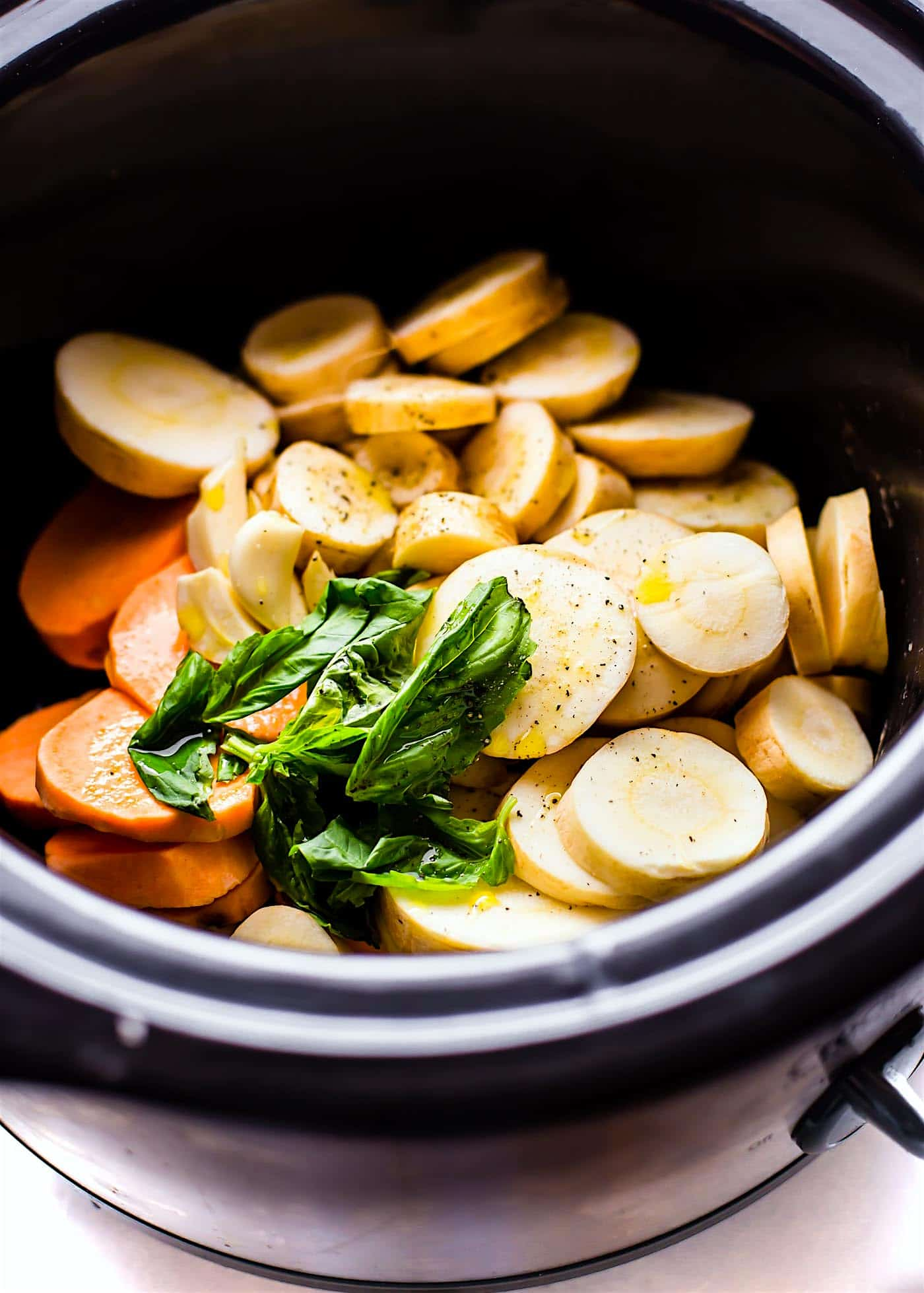 vegetables in a slow cooker