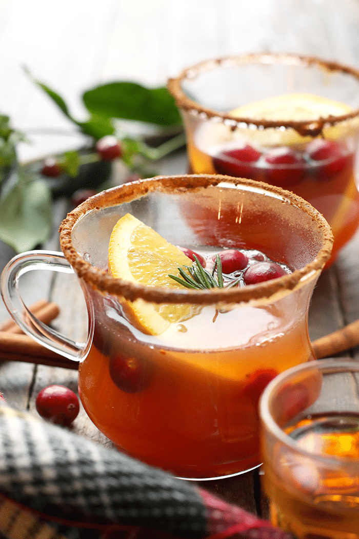 festive Hot Toddy with apple cider
