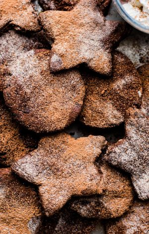 Mexican Hot Chocolate Sugar Cookies (Vegan, Paleo)
