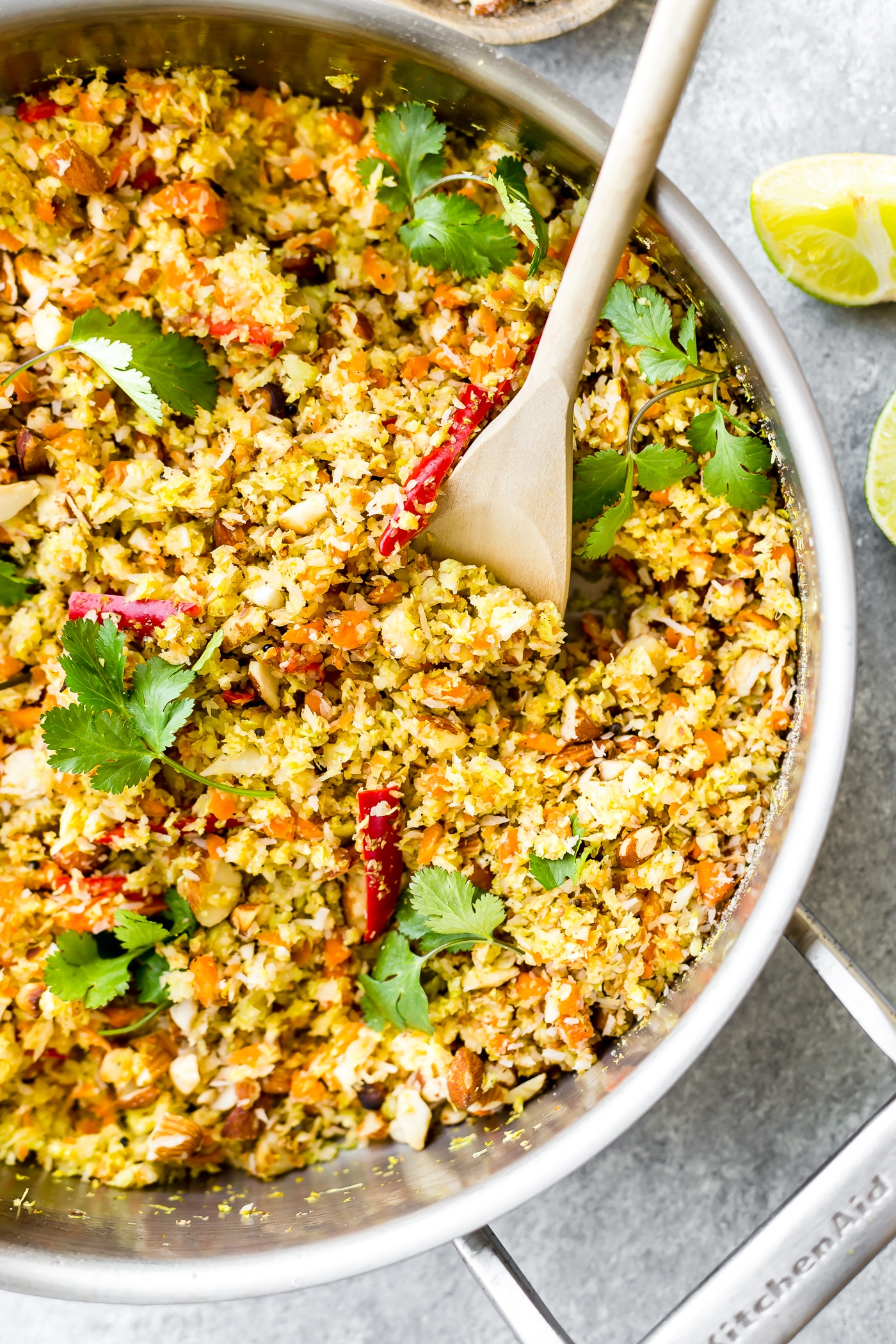 Gujarati Style Coconut Almond Warm Cabbage Salad is a healthy plant baseddinner side or main! A spicy, sweet, crunchy, flavorful Indian inspiredcabbage saladto enjoy at any meal. Pot luck friendly and easyto make! Paleo, Vegan, and even a Whole 30 option.