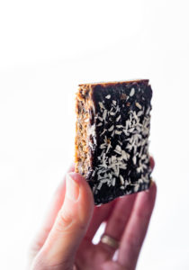 Paleo Coconut Almond Butter Jelly Energy Bars {Whole 30 Friendly}