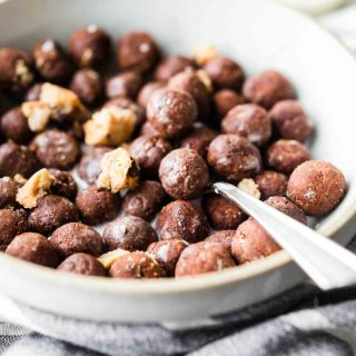 Cookie Crunch Cocoa Puffs Homemade Cereal, made with just 5 Ingredients! Gluten Free homemade cereal made right in your kitchen.