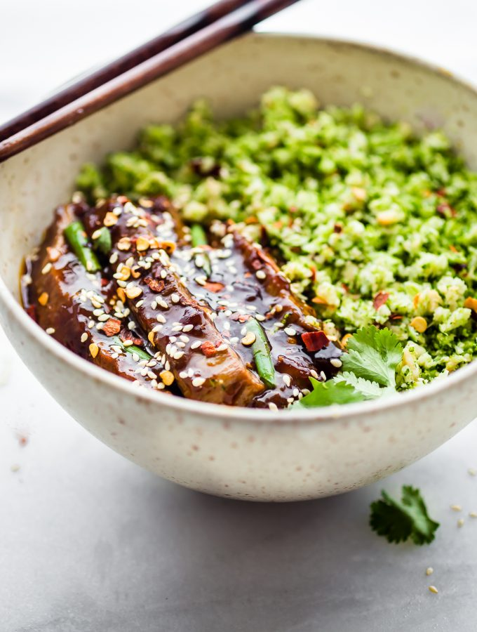 Paleo Mongolian Beef and Broccoli Rice Bowls