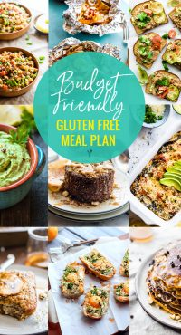 Budget Friendly Gluten Free Meal Plan