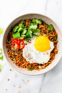 Quick Carrot Rice Breakfast Nasi Goreng {Paleo}