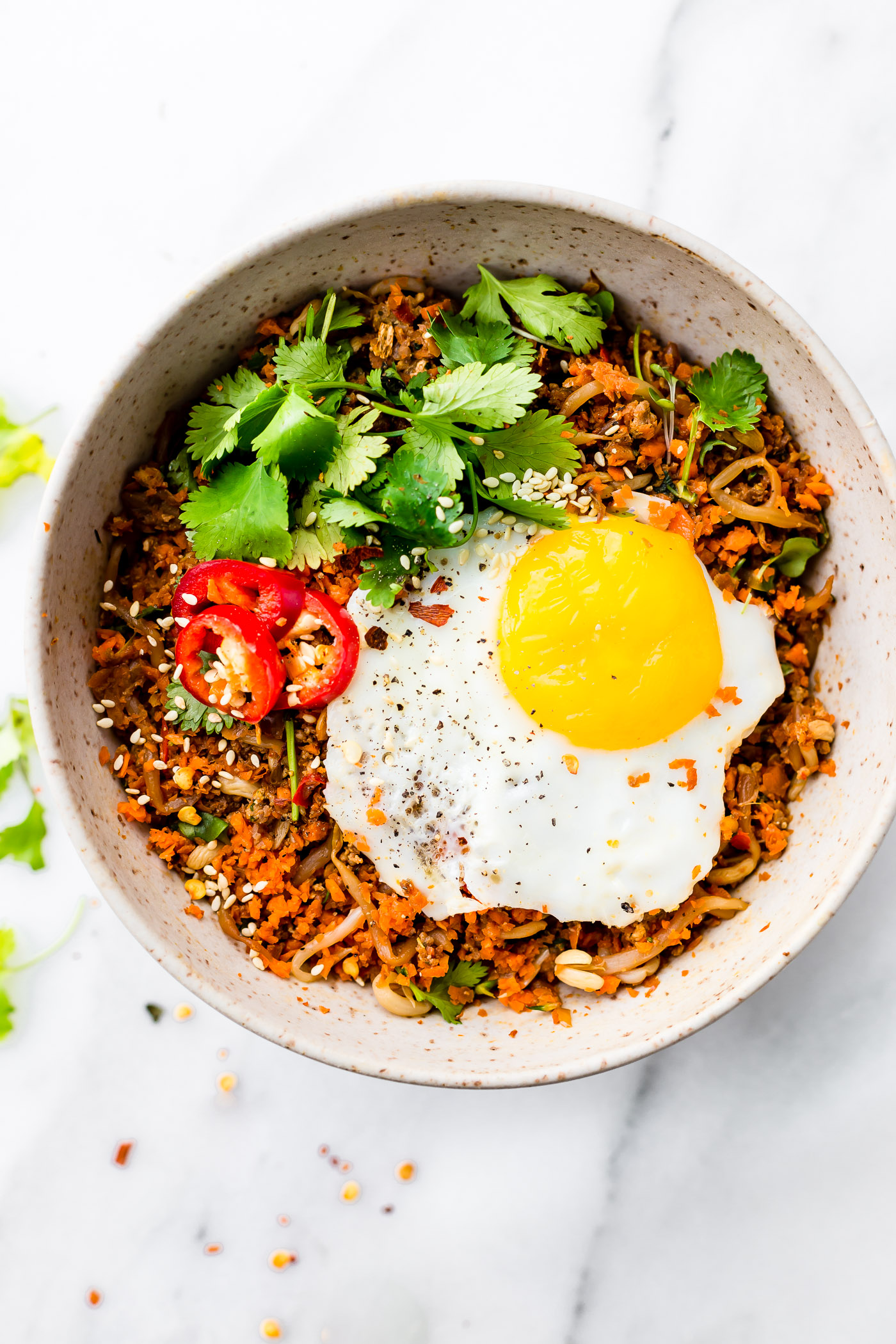 Carrot Rice Breakfast Nasi Goreng {Paleo Friendly}