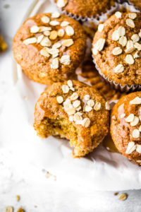 Flourless Honey Oat Ricotta Muffins {Gluten-Free}