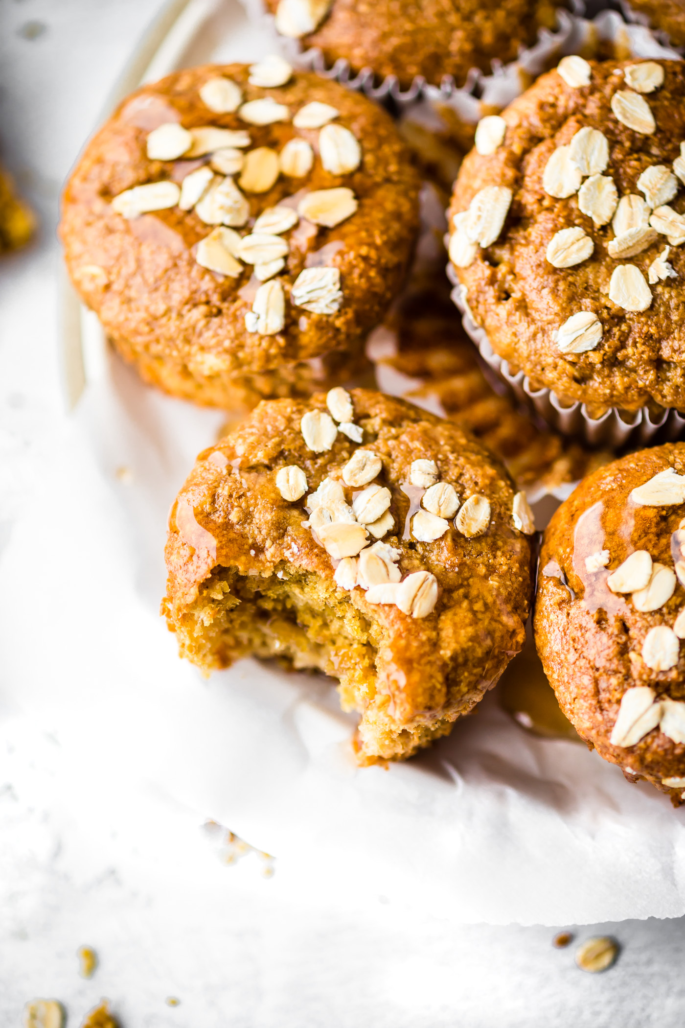 These Flourless Honey Oat Ricotta Muffins are easy to make for a healthy breakfast or snack! A Gluten-free Ricotta Muffins recipe that's honey sweetened and rich in protein, fiber, and calcium. Flourless baking made quick and simple