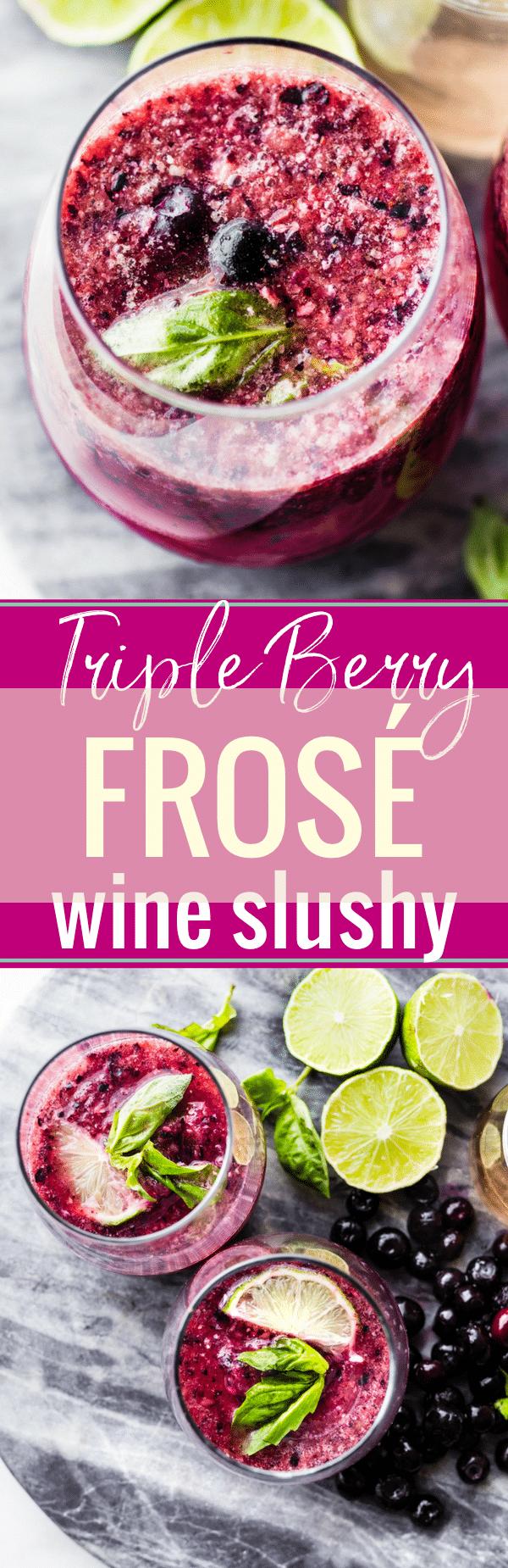 riple Berry Frosé Recipe (aka Frozen Rosé) is a little
