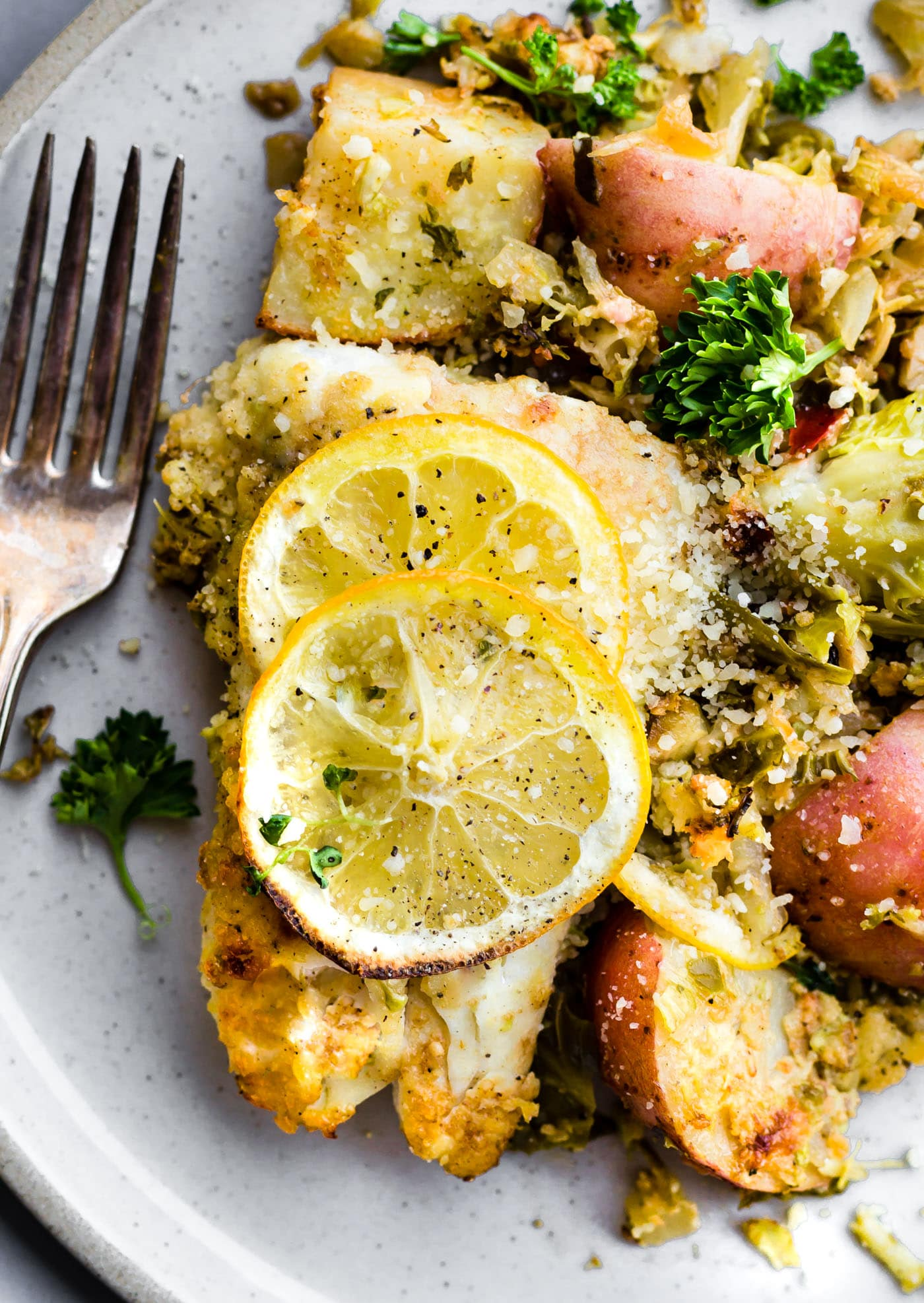 Honey Mustard Baked Fish And Vegetables One Pan Meal