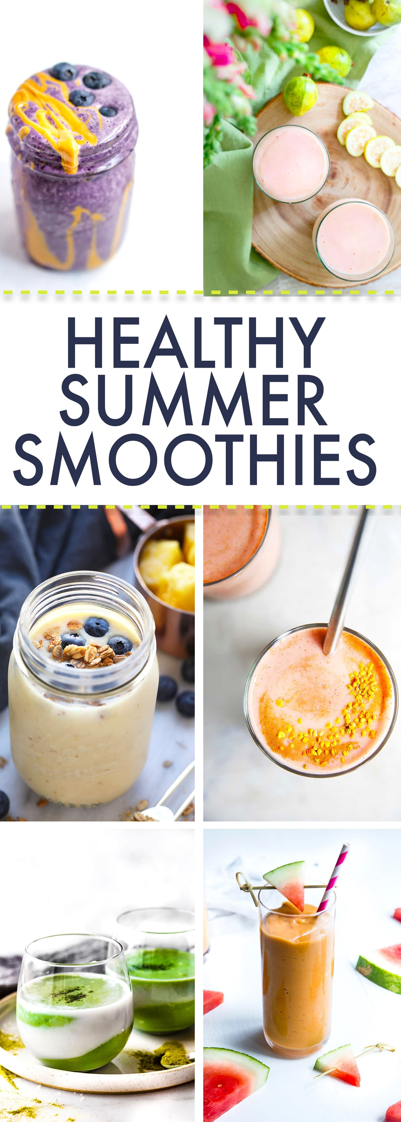 Healthy summer Smoothies! Superfood smoothies to make all summer long. Easy, delicious, nutritious!