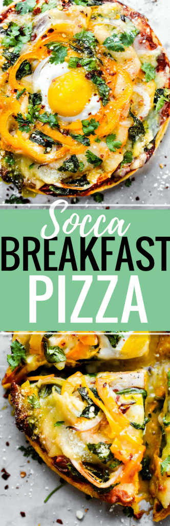 ASOCCA BREAKFAST PIZZAyou can enjoy for any meal! Socca pizza crust made from just 3 ingredients, sliced pineapple, uncured bacon, egg, onion, and creamy meltable artisan cheese! A breakfast pizza that's quick to make, grain free, and deliciously nutritious. You'll be hooked! www.cottercrunch.com