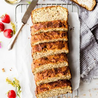 Paleo Cinnamon Almond Flour Bread - part of a delicious kid friendly dairy-free meal plan