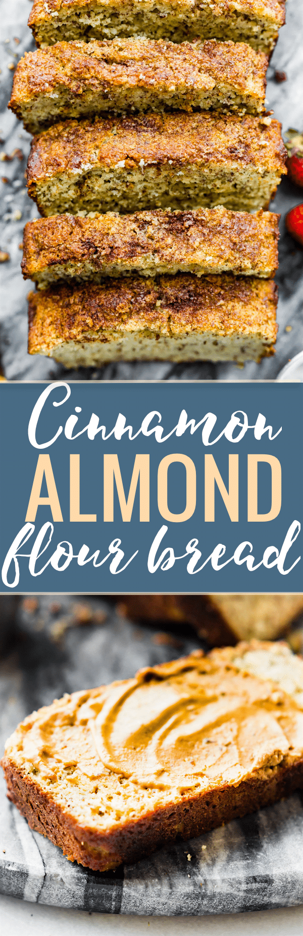 This simple and delicious cinnamon almond flour bread is a versatile paleo bread recipe you're whole family will love! Made with few ingredients; almond flour, flax seed, cinnamon, and eggs to name a few. A nourishing wholesome bread for breakfast or snacking. www.cottercrunch.com