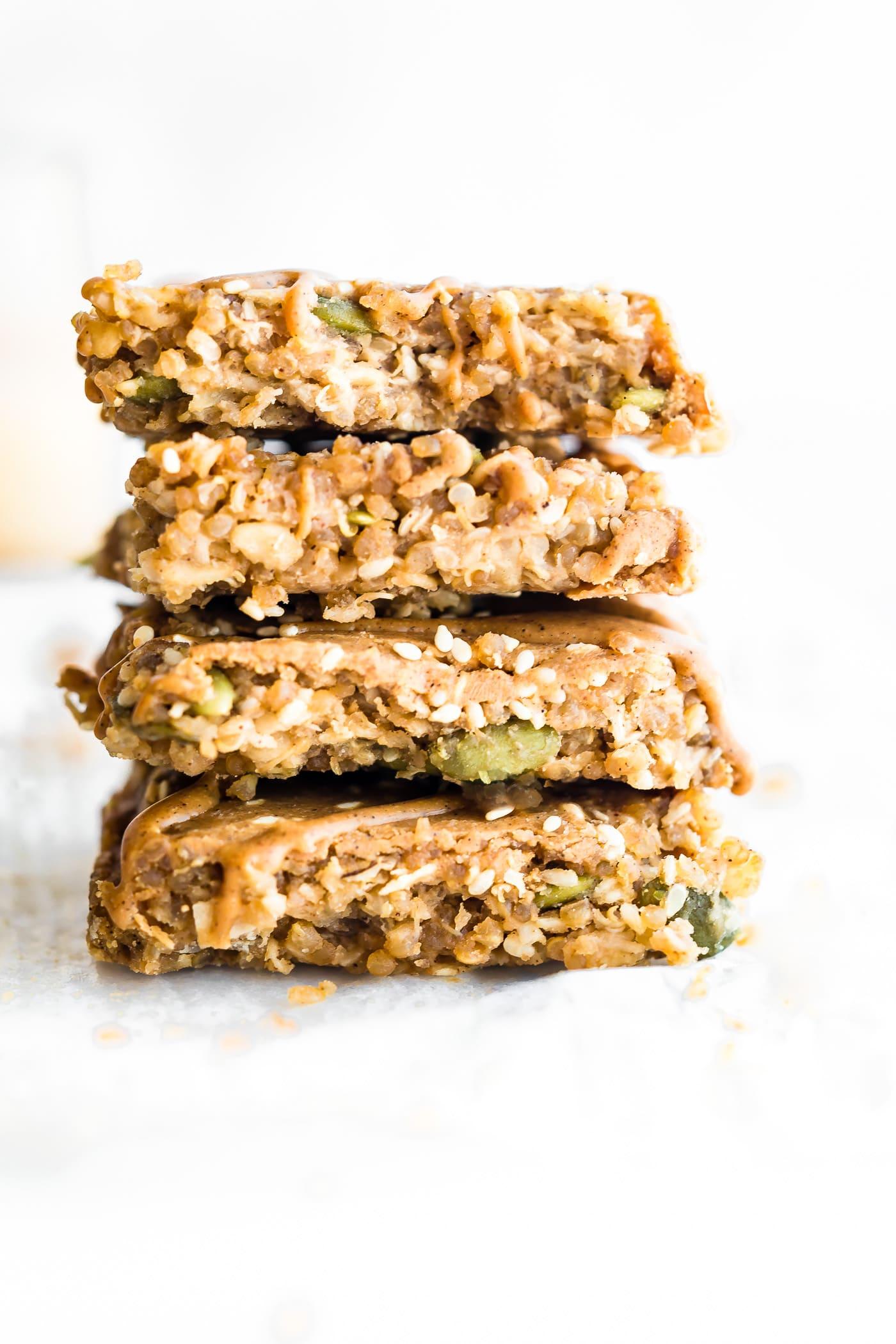 Maple Sesame Quinoa Bars {Vegan}