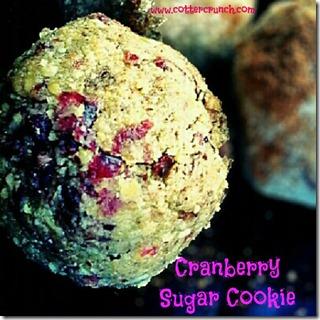 cranberry sugar cookie