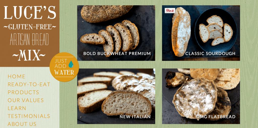 lucie's gluten free bread company