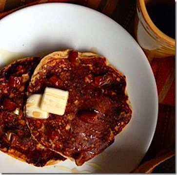 apricot and cinnamon protein pancakes