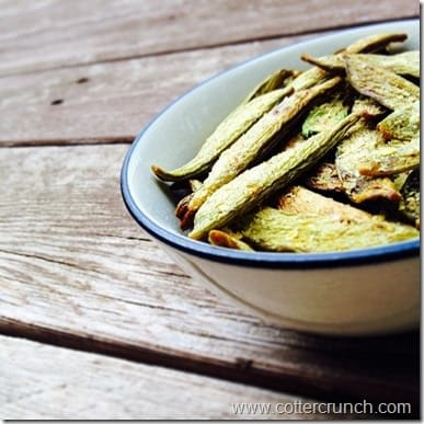 dehydrated snap pea chips