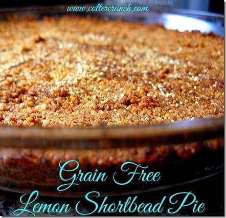 grain free lemon shortbread -CC