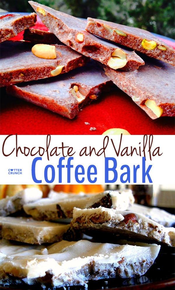 chocolate and vanilla coffee bark- grainfree and lower sugar