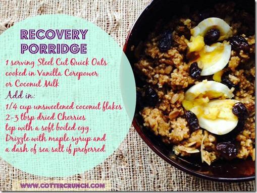Recovery porridge 3
