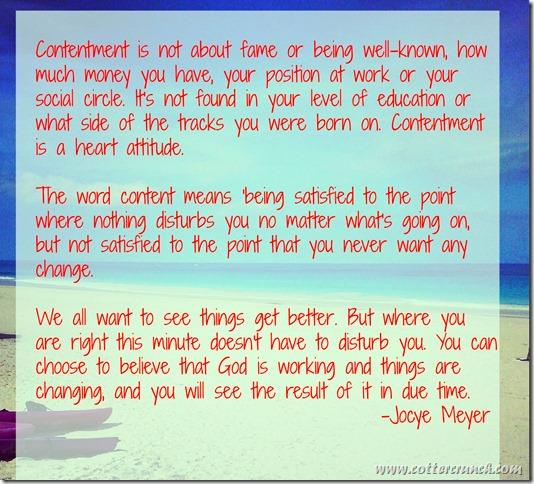 contentment quote