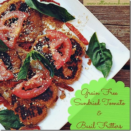 sun dried tomato and Basil Fritters (GF)