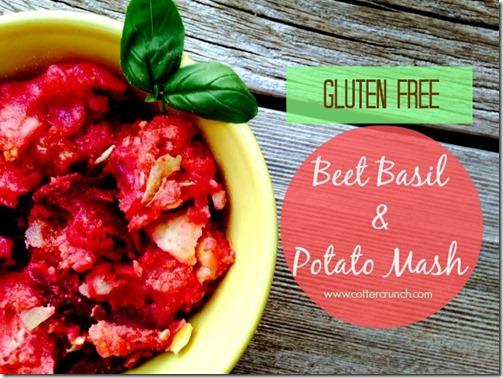 beet basil and potato mash