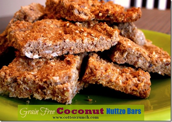 grainfree coconut Nuttzo bars