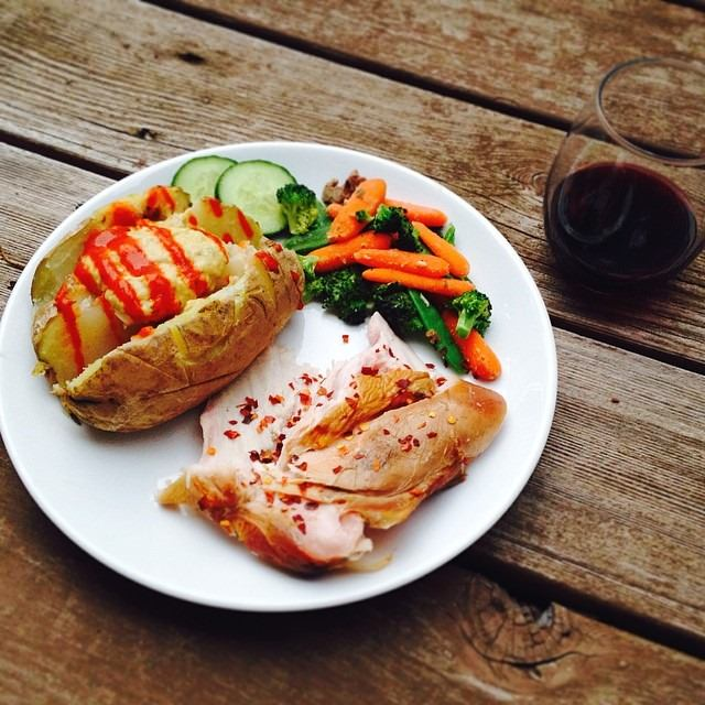 easy smoked turkey and potato dinner