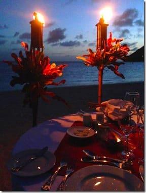 dinner on beach