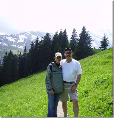 me and dad- swiss alps