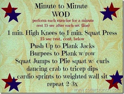 min. to minute workout