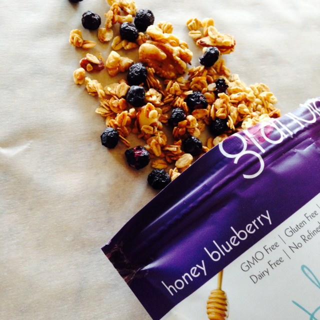 blissful GF honey blueberry granola