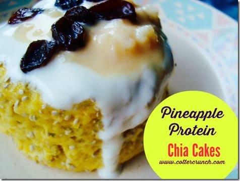 pineapple protein chia cakes