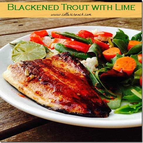 Blackened Trout with lime
