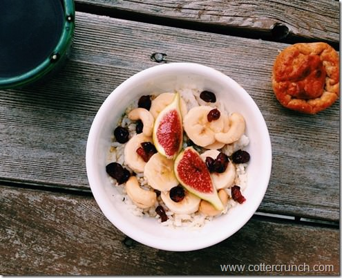 coconut fig rice pudding
