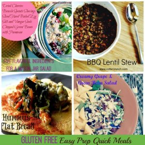 Easy Prep Gluten Free Meal Ideas and Pantry Staples