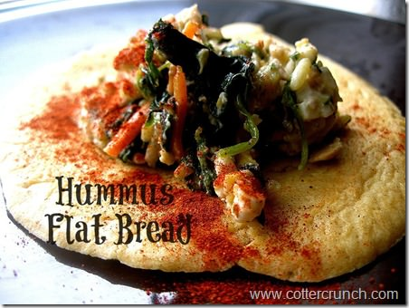 hummus flat bread