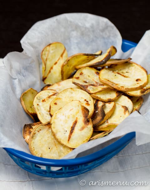sweet potato chips- griled