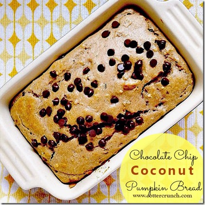 chocolate chip coconut pumpkin bread