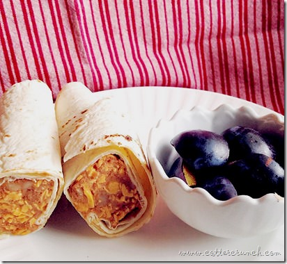 salmon bean wraps with @udisglutenfree tortilla