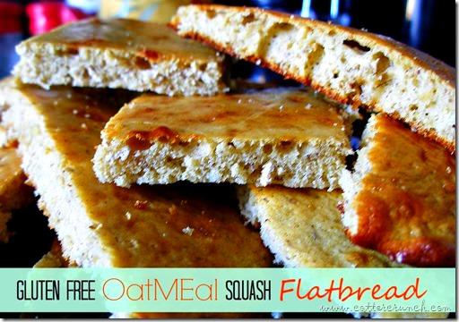 squash oat flatbread