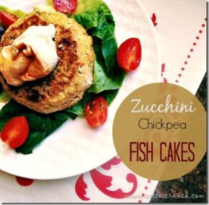 Quick Healthy Gluten Free Recipes including Zucchini Chickpea Fish Cakes