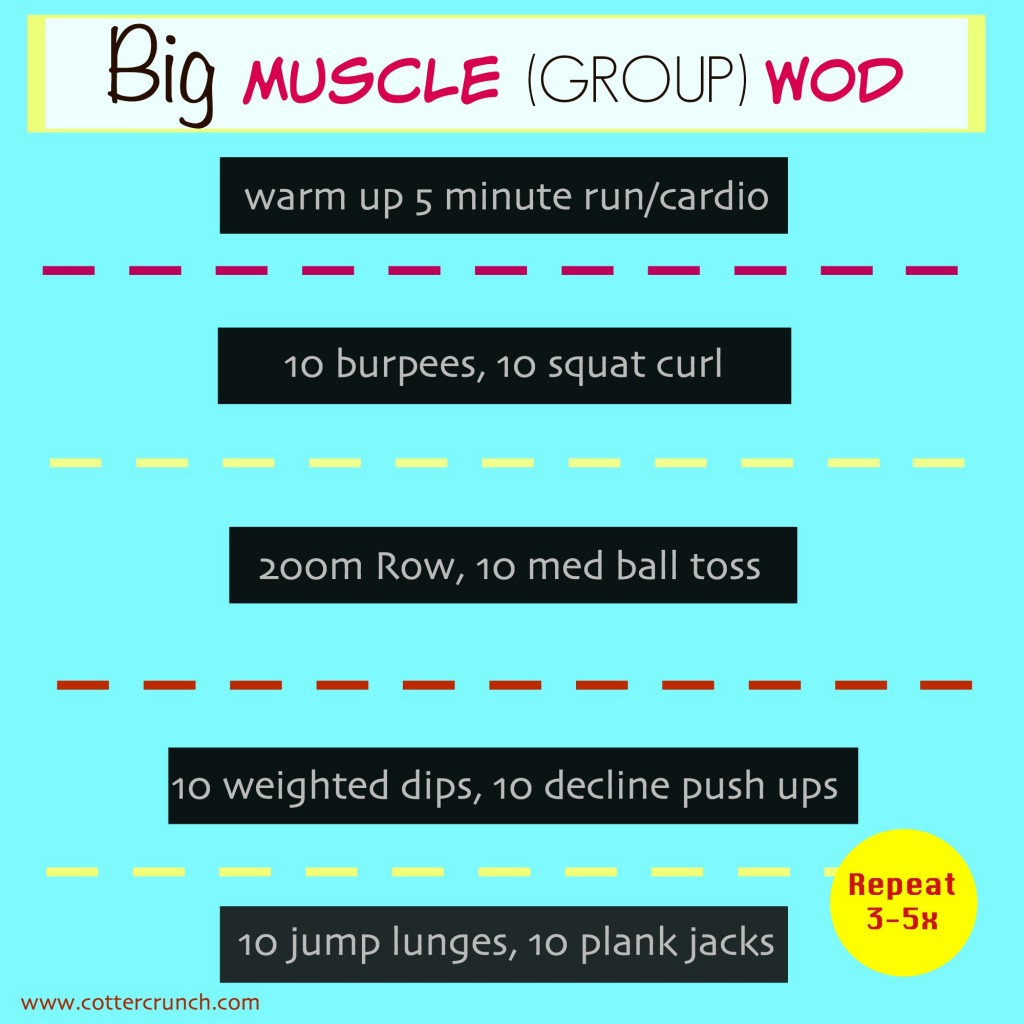 Big muscle GROUP WOD