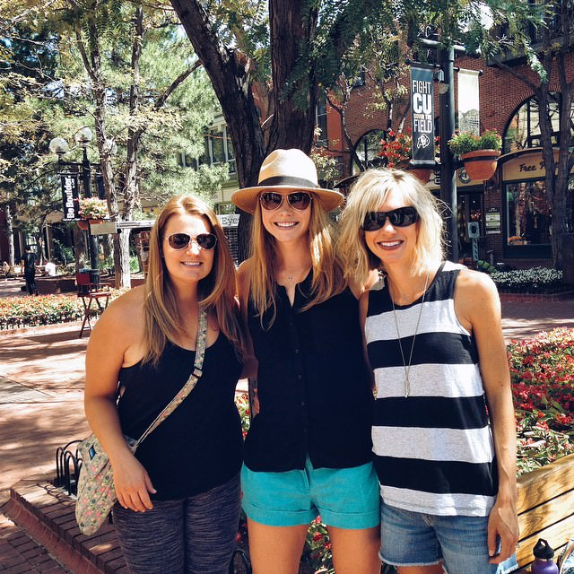 boulder with paige and lauren