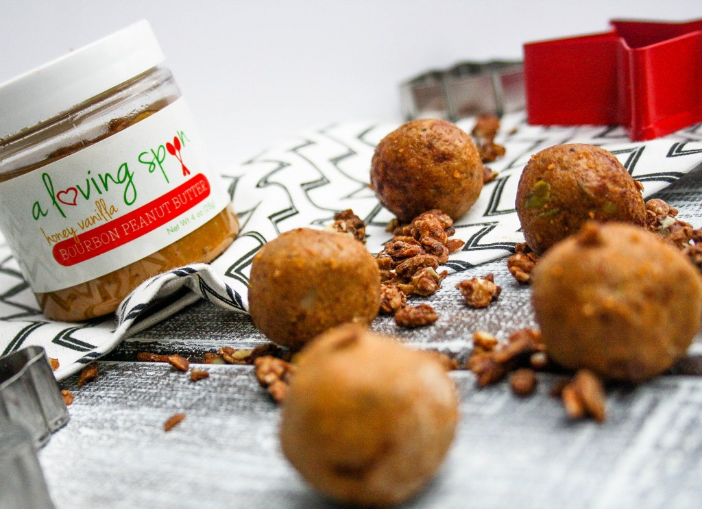 Grain Free Bourbon Peanut Butter Protein Snack bites! A delicious healthy snack for any time of day!